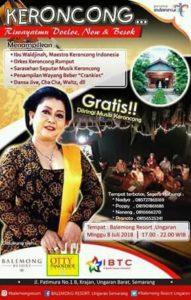 Flyer for Waldjinah and OK Rumput at Balemong Resort