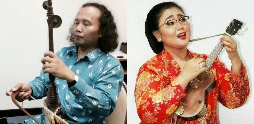 Keroncong musicians Danis Sugiyanto and Endah Laras